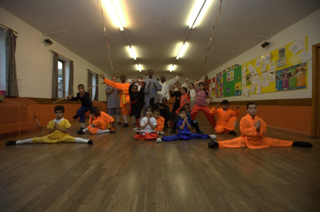 A Kungfu master teaches free classes to help borough's children and parents get fit