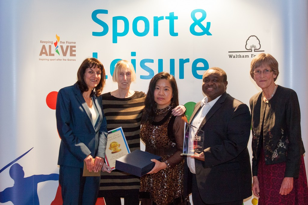 Senior Tai Chi Corner wins Physical Activity and Health Project Award at the Waltham Forest Sports Awards 2013