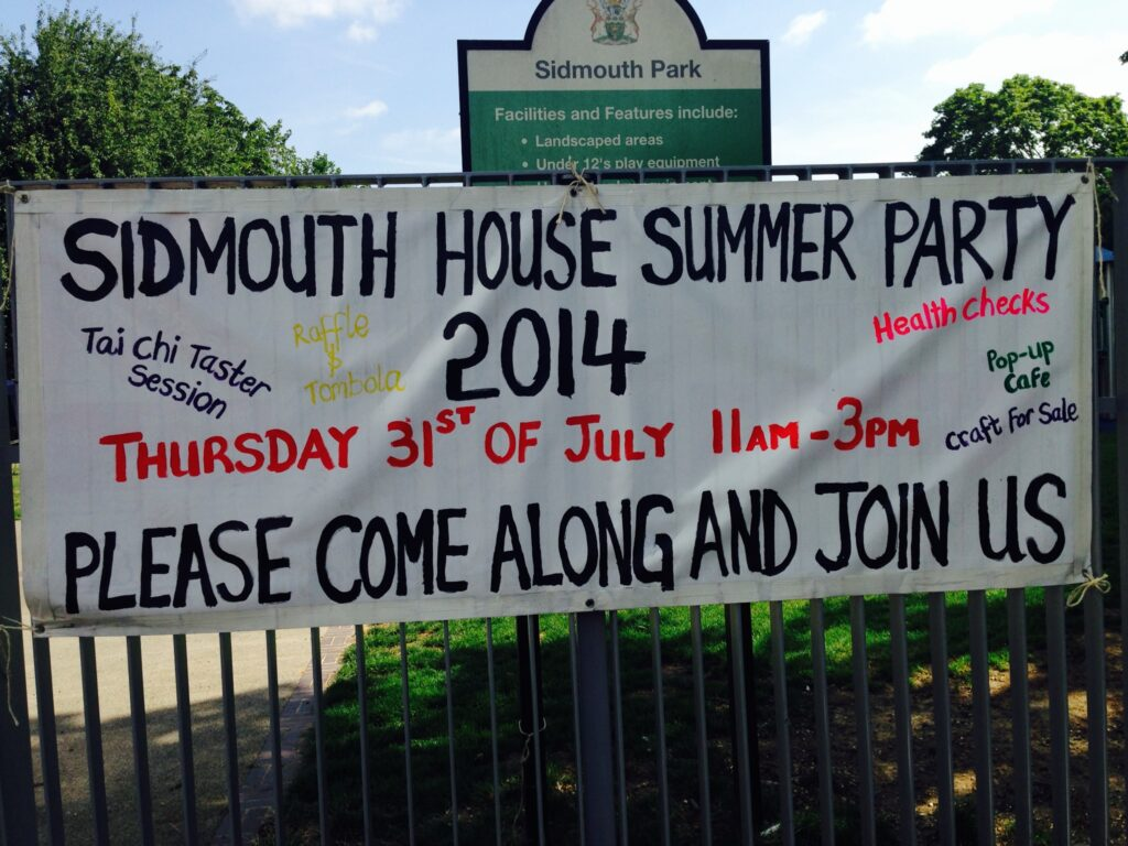 Tai Chi for people with learning disabilities  and family carers at Sidmouth House Summer Fair