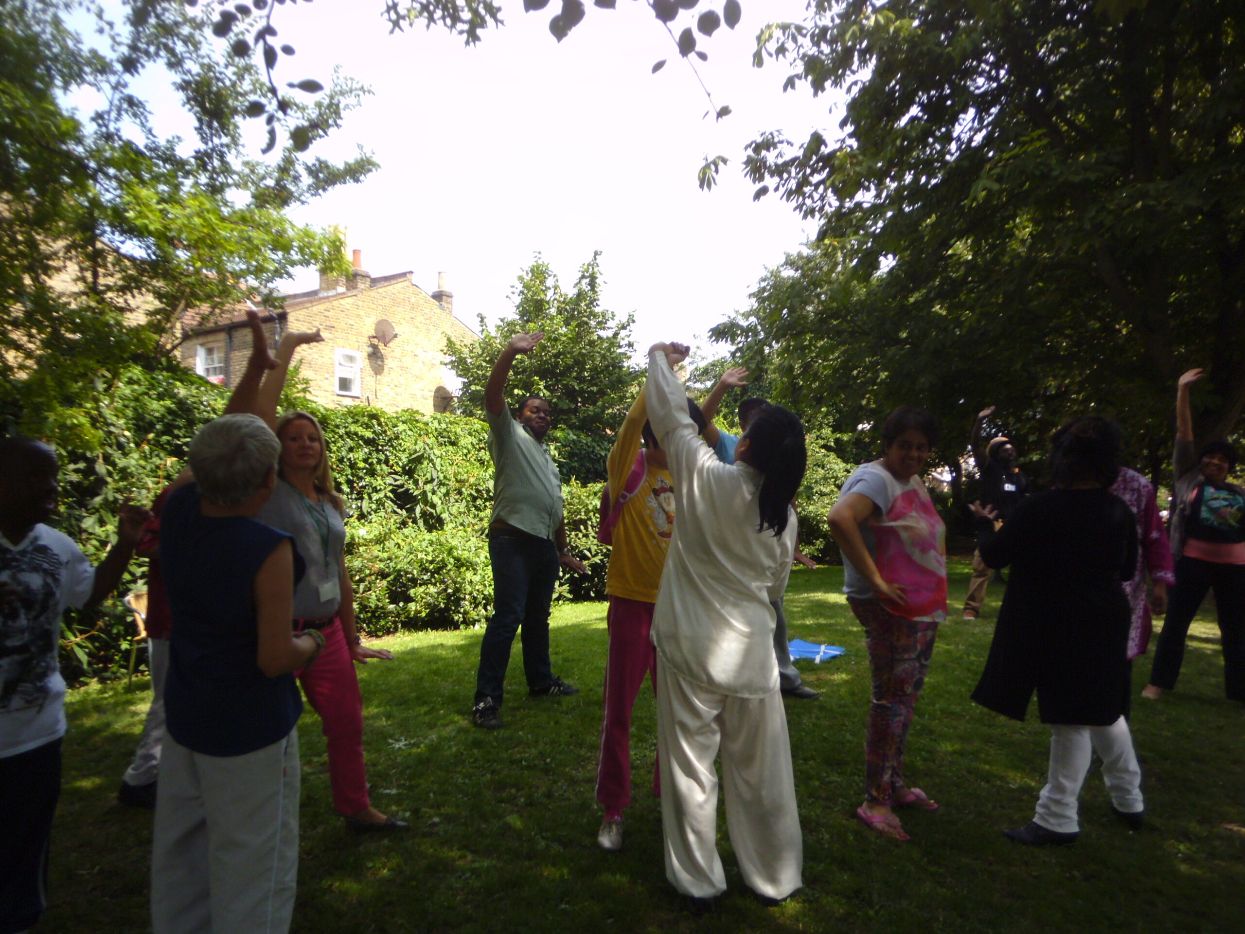 Sidmouth summer party Tai Chi