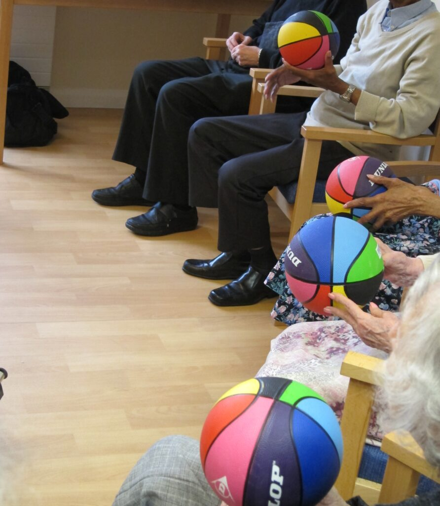Rainbow Balls at George Mason Lodge