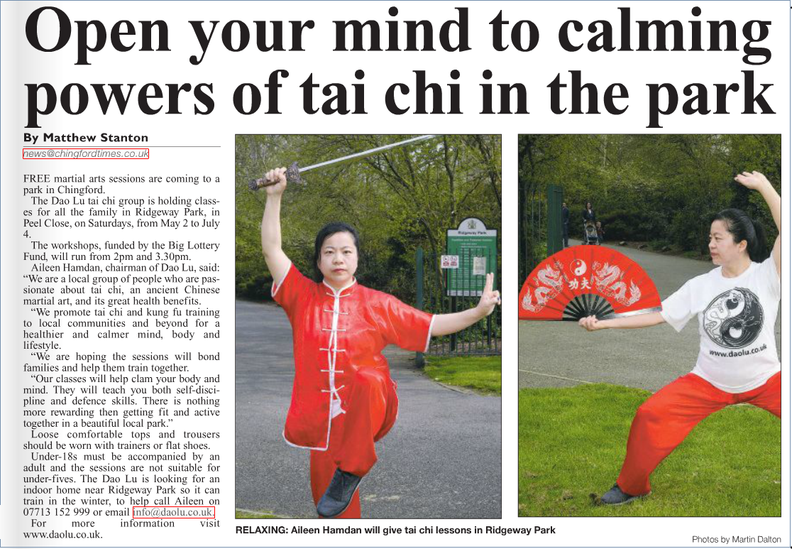 Chingford Times 17th April 2015