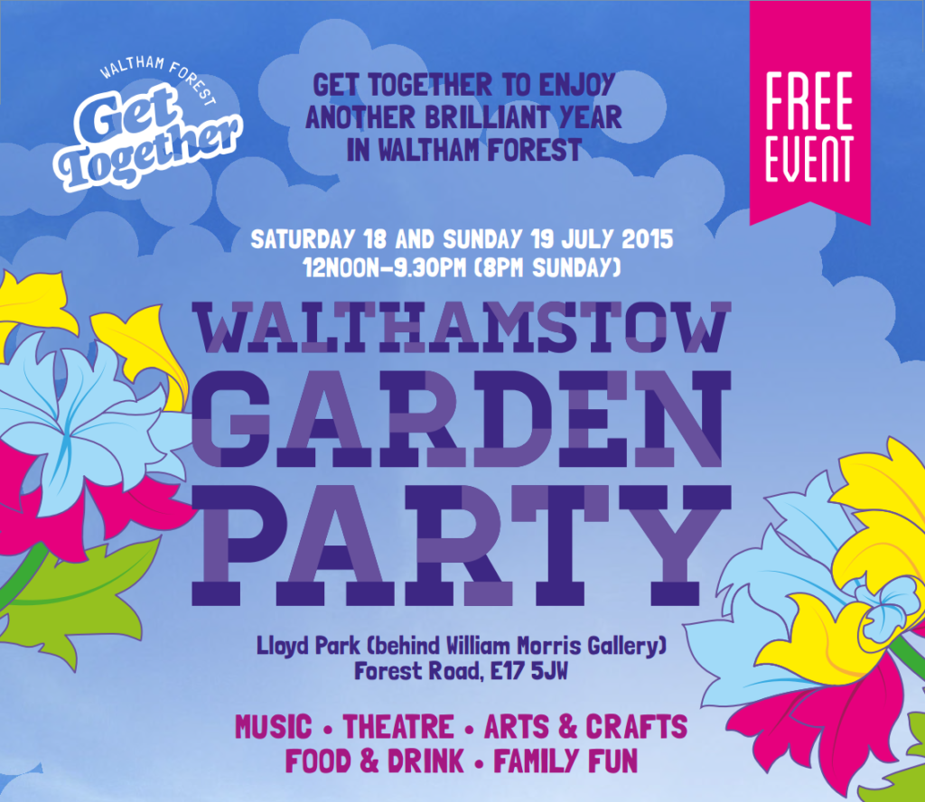 Walthamstow Garden Party flyer