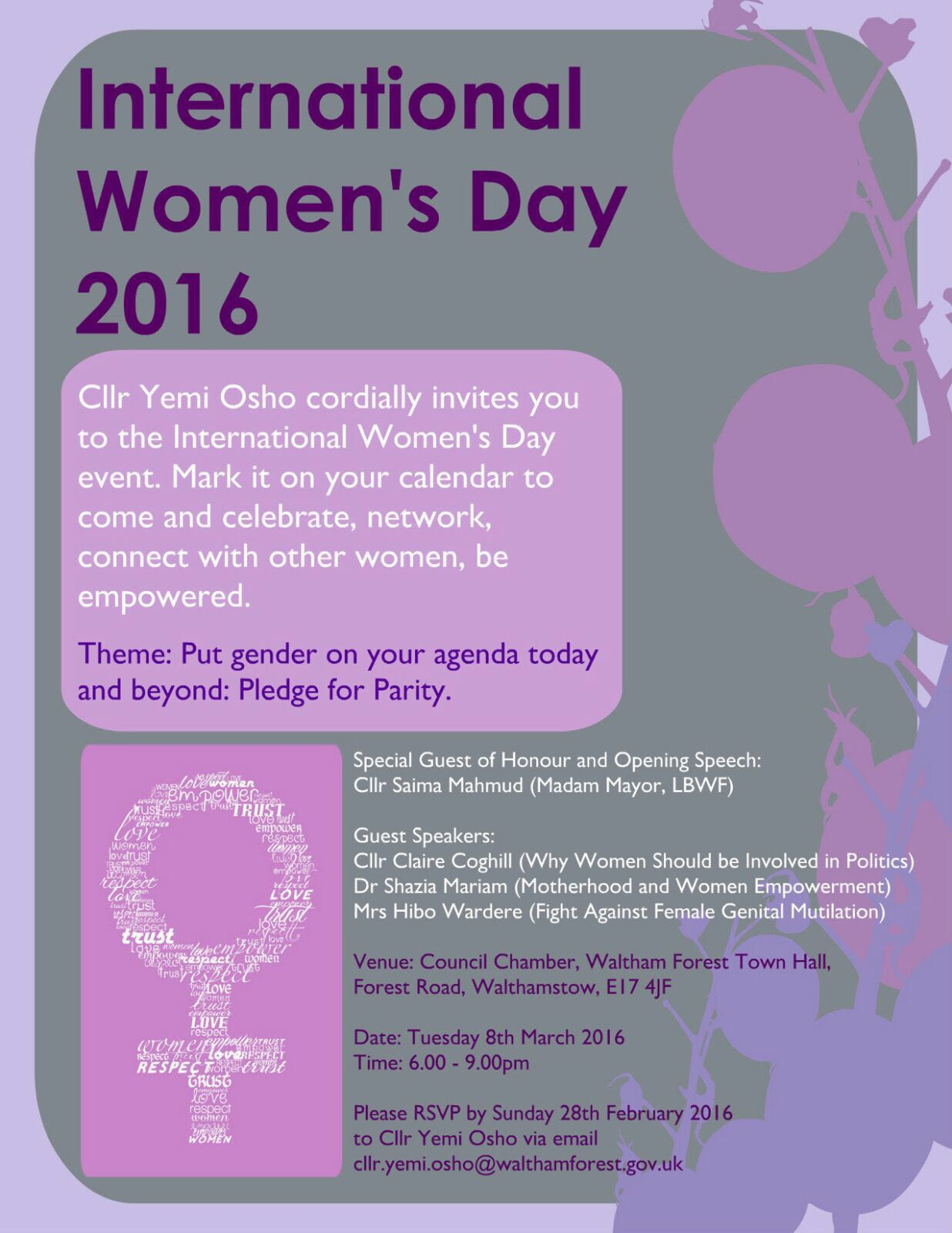 20160308 IWD event in Town Hall