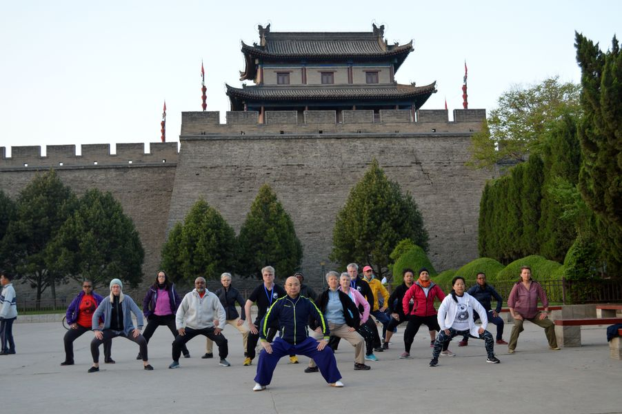 Morning practice in Xi'an