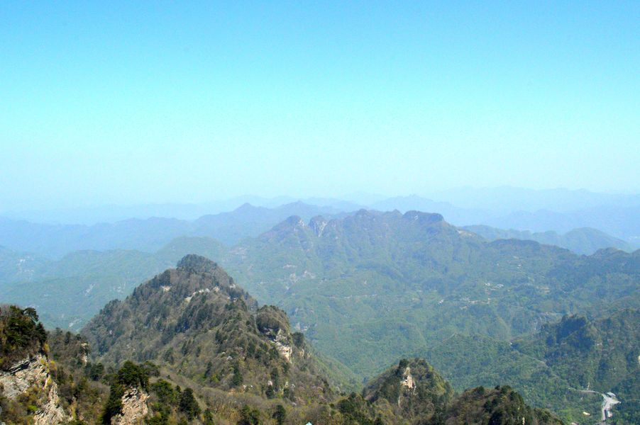 On top of the Wudang Mountain
