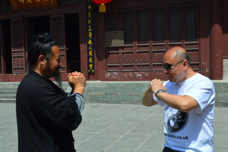 Masters Zhang Jia Li and Tary Yip at the Purple Heaven Temple