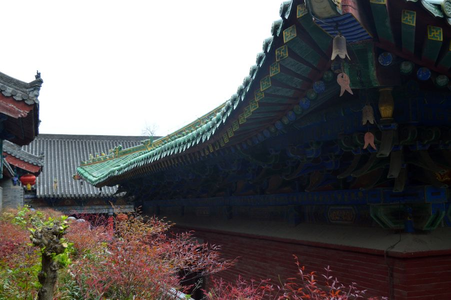 A roof in the Shaolin Temple