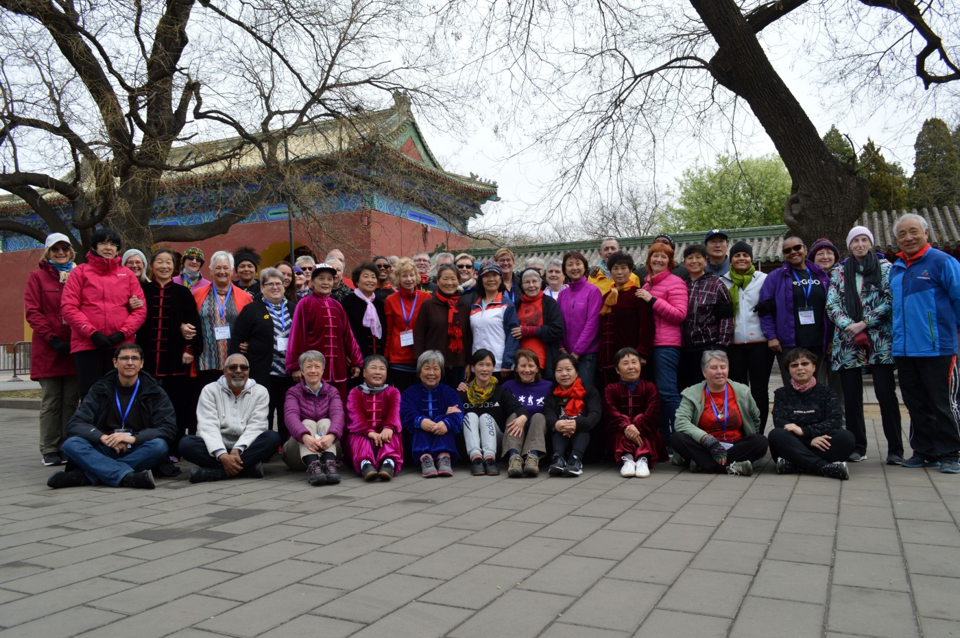 With a local Tai Chi community group, Temple of Heaven, Beijing