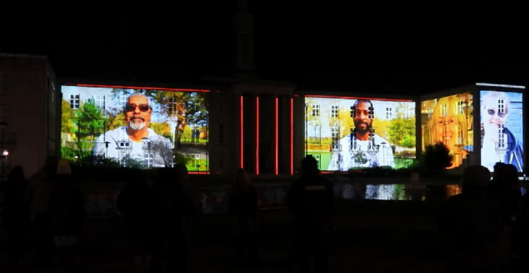 20190111 Dao Lu people 2 on Town Hall Screen by Greenway Greenway