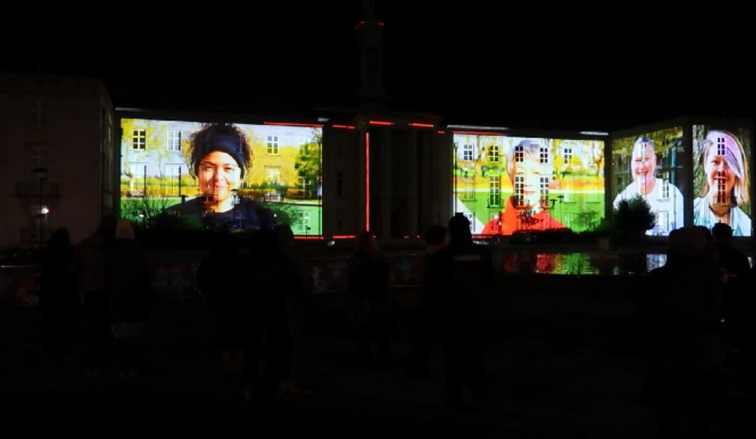 20190111 Dao Lu people on Town Hall Screen by Greenway Greenway