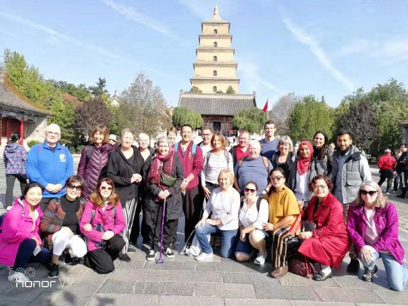 20191030 China Trip - big group in front of Da Yan Ta